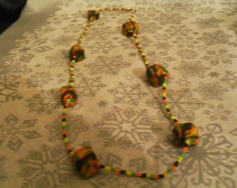 beautiful unique and original necklace multicolor