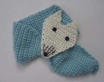 Fox scarf crochet for young children