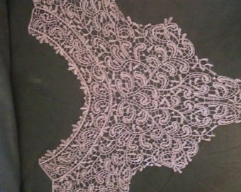 Pretty white embroidered lace