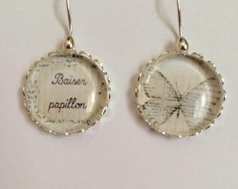 """""""butterfly Kiss"""" earrings in 925 Silver"""