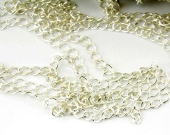 ES-0659 925 Solid Sterling Silver - Twist Chain by meter diameter 2.5 mm