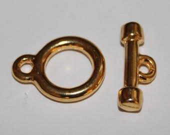 Gold, 18 mm toggle clasp