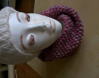 Knitted cowl / snood mottled