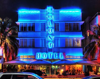 The Colony Hotel on Ocean Drive Miami Beach Fine Art Photography
