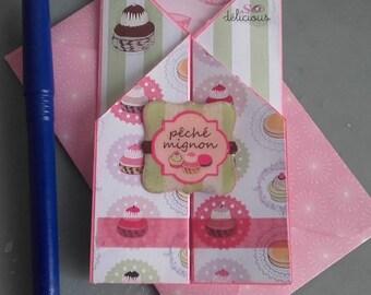 """""""Cute peach"""" card"""