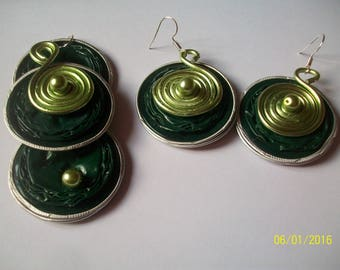 set in a capsule green nespreso and aluminum wire more glass bead