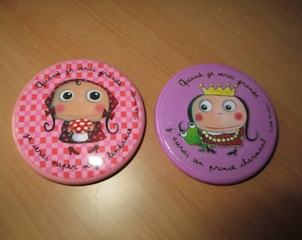 set of two Pocket mirrors when I grow... girls