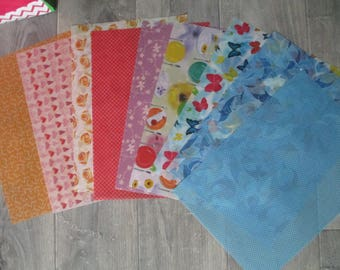 set of 9 sheets layers patterns 24 x 34cm