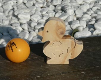 "Animal puzzle ""duckling"" wooden cut"