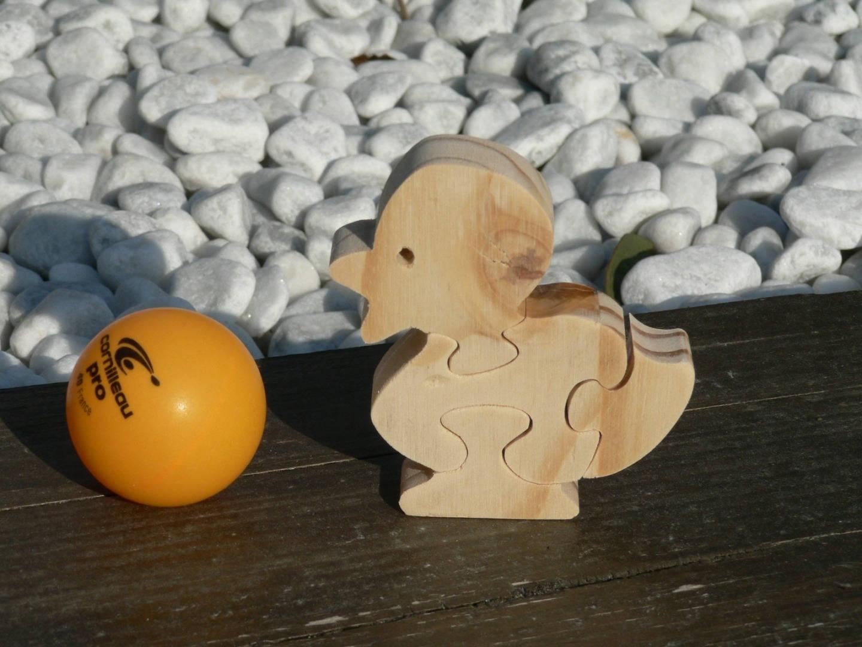 Puzzle animaux le petit Canard en bois découpé # Animaux En Bois Découpé