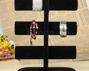 1 display stand 6 velvet Stands for bracelet