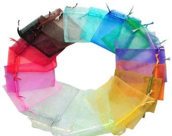 10 mixed bags pouches Organza gift wedding birthday 13 x 16 cm
