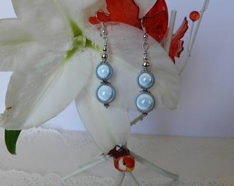 Earrings pearls magic light grey.