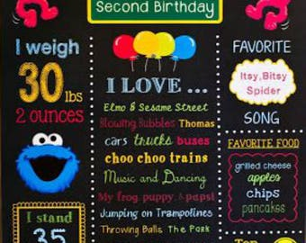 Sesame Street Party Decor