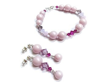Swarovski Pearls and Crystal Set