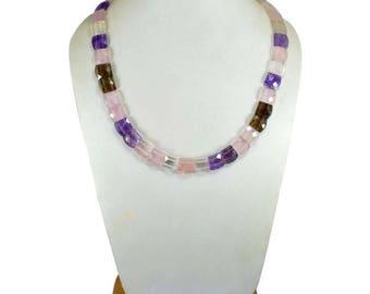 300 ct. rose quartz Necklace