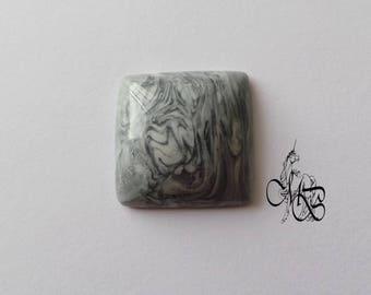 """""""Imitation gray stone"""" polymer clay cabochon #14"""