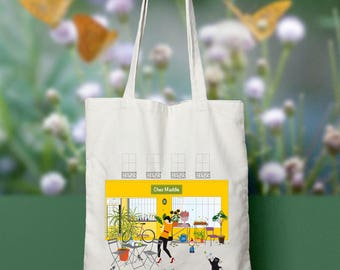 Tote bag she Maddie - organic cotton - the garden of Maddie