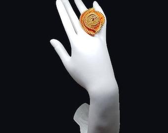Ring orange zip
