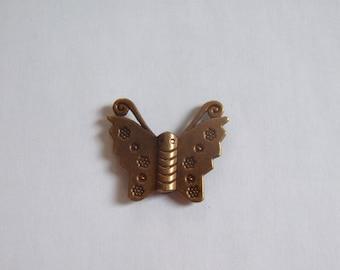 Bronze charm Butterfly 25x28mm