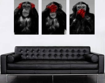 Monkey red effect hands points table