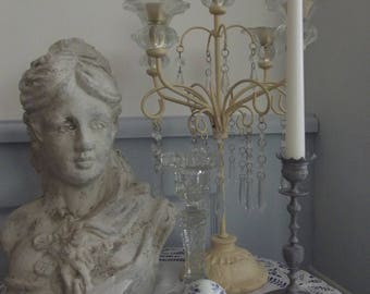 FORMER SMALL CANDLESTICK GRAY GUSTAVIAN AND HIS WHITE CANDLE