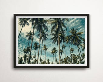 Palm Trees Poster, Palm Tree Photography Print, Tropic Wall Art, Palms Print, Palm Trees Photo, Tropical Decor, Palms, Palm Tree Poster