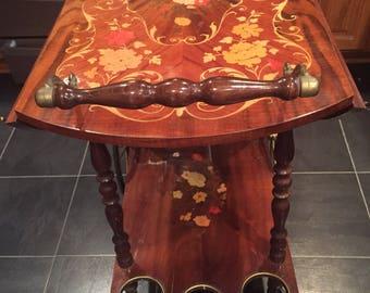 Italian Inlay Tea Cart