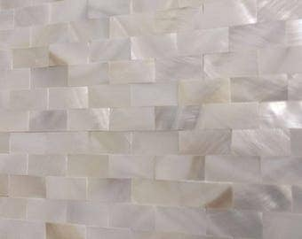 White Brick Mother of pearl tile