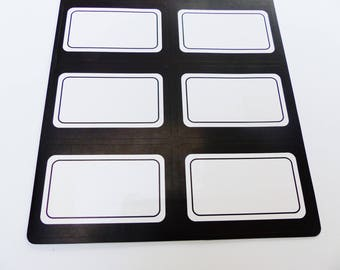 18 type school label black and white back to school stickers