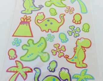 22 stickers glow dinosaurs theme stickers