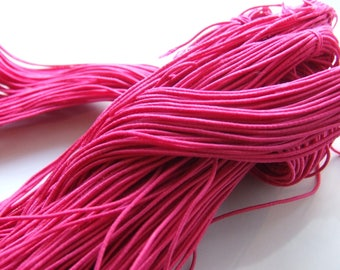 Set of 27 meters of cord elastic, 1 mm thick, round, rubber