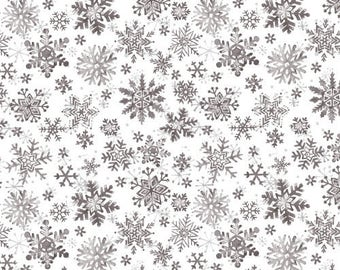 fabric patchwork Christmas 103/63710 gray snowflakes