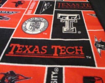 Texas Tech 2 ply  Fleece Blanket