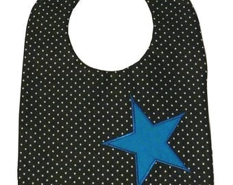 Bibs magnetic Star Blue 3-24 months