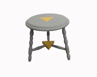 Stool occasional gray and yellow Triangle