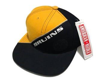 Vintage Deadstock American Needle Boston Bruins Snapback Hat