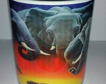 "MUG PRINTED ""ELEPHANTS"""