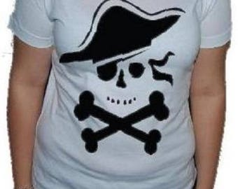PIRATE shirt, short sleeves, 100% cotton, printed