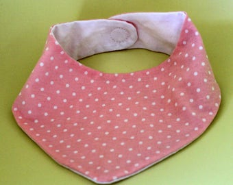 Pink bandana bib 0-6 months