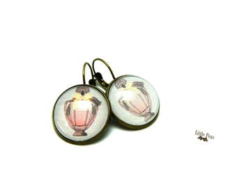 These earrings my perfume glass dome vintage retro