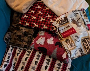Many fabrics available for your next blanket!