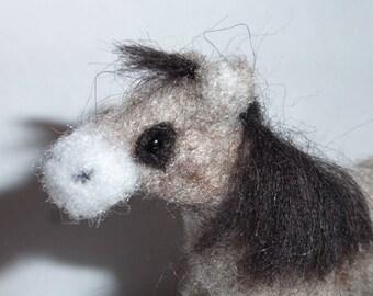 Needle felted Horse, Toy, Pony