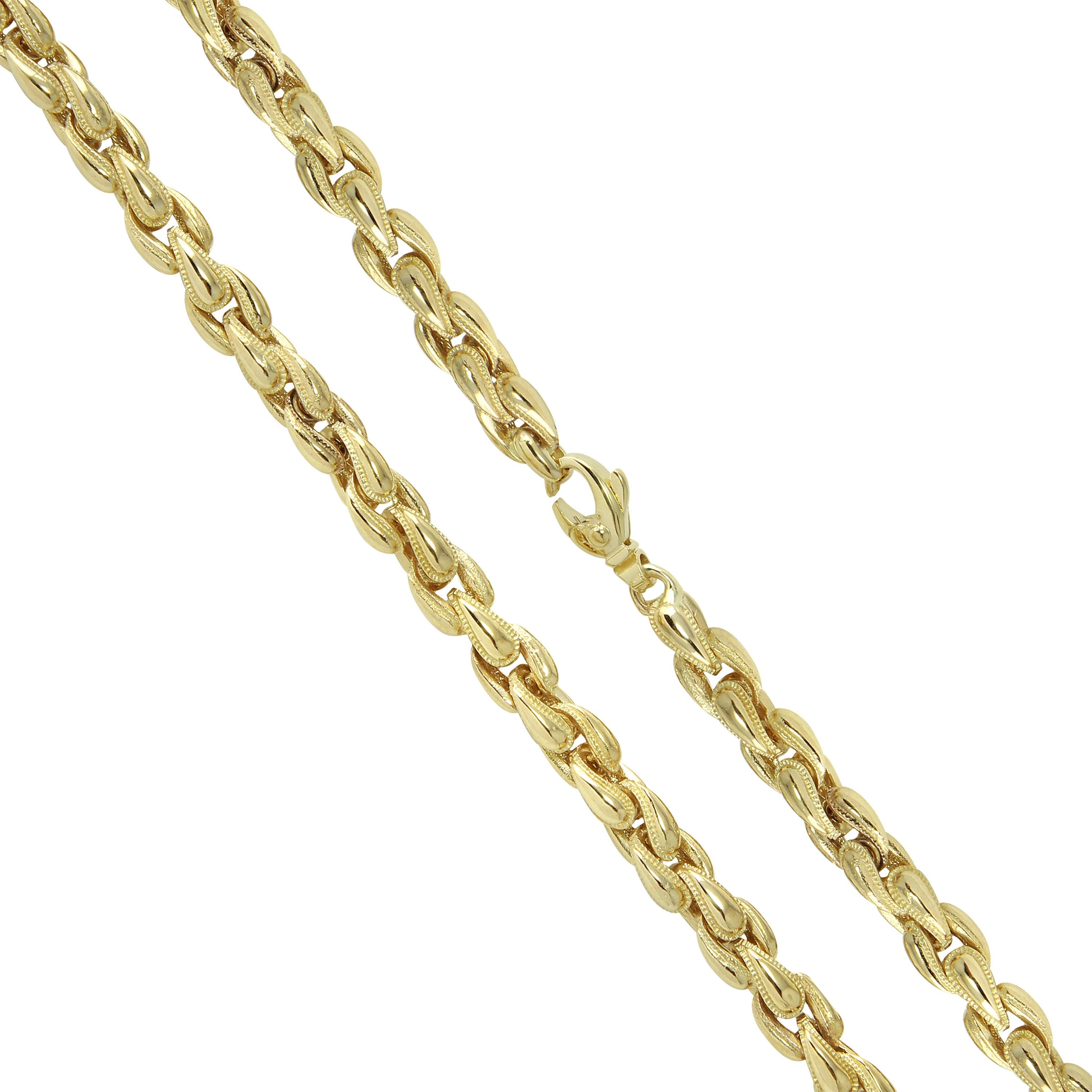122gr 8mm 14K Yellow Gold Mn Solid GOLD Rope Chain