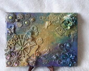 Handmade mixed media canvas