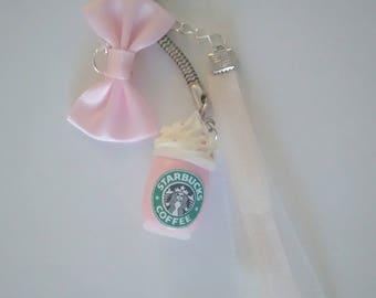 Keychain - pink Starbucks