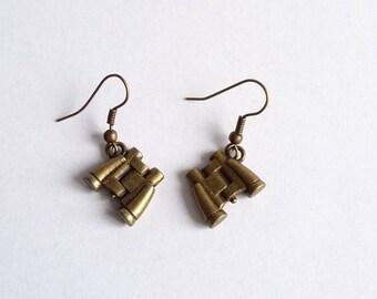 Earrings fancy binoculars