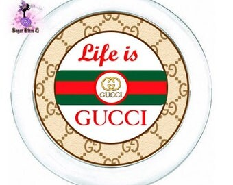 Life Is Gucci Dinnerware Package | Plates, Cups, and Napkin Rolls with Utensils | Customizable