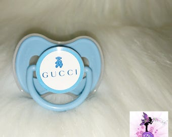 Blue  Pacifier | Custom Baby Pacifier | Baby | Designer Inspired |  Binky | Customized Pacifier/Binky
