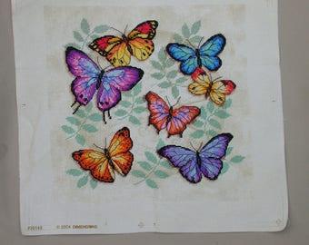 embroidery cute flight of butterflies